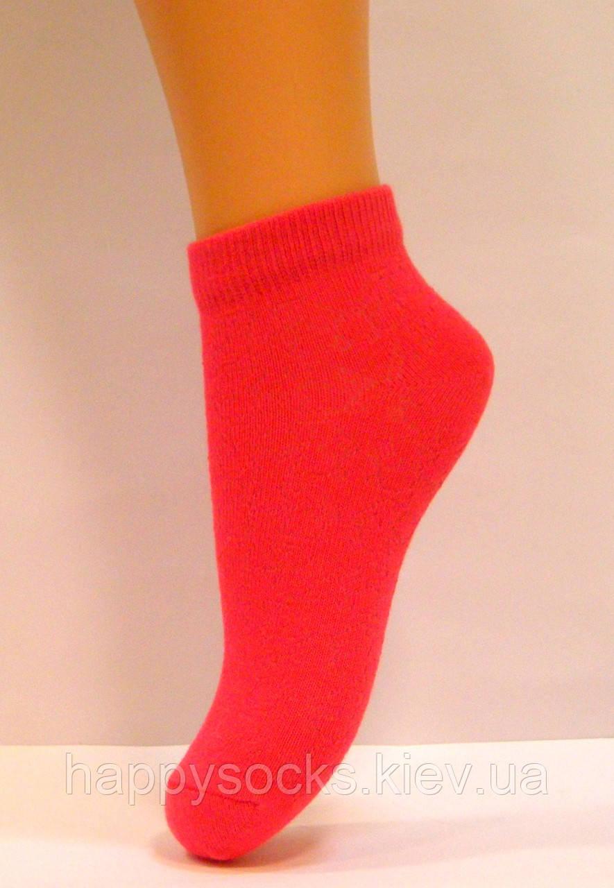 Носки тонкие в сетку детские кораллового цвета