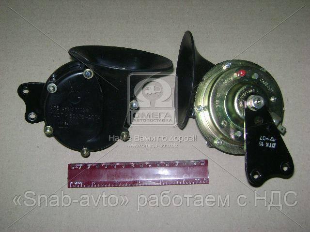Сигнал звуковой КАМАЗ (комплект 2 шт.) (производство Лысково) (арт. С306/307 Д-01), ADHZX