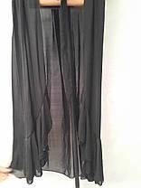 Длинный черный пляжный халат Синтия 5020 на размеры 44-54., фото 2