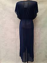 Длинный черный пляжный халат Синтия 5020 на размеры 44-54., фото 3
