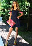 Мини платье из неопрена с сеткой, фото 2