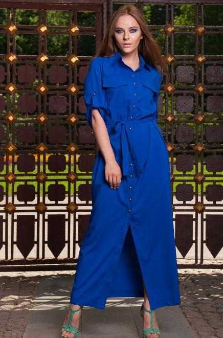 Довге плаття сорочка синього кольору
