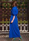 Довге плаття сорочка синього кольору, фото 2
