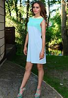 Молодежное платье ментолового цвета