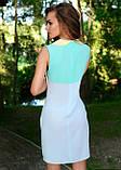 Молодежное платье ментолового цвета, фото 2