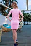 Розовое платье рубашка, фото 2