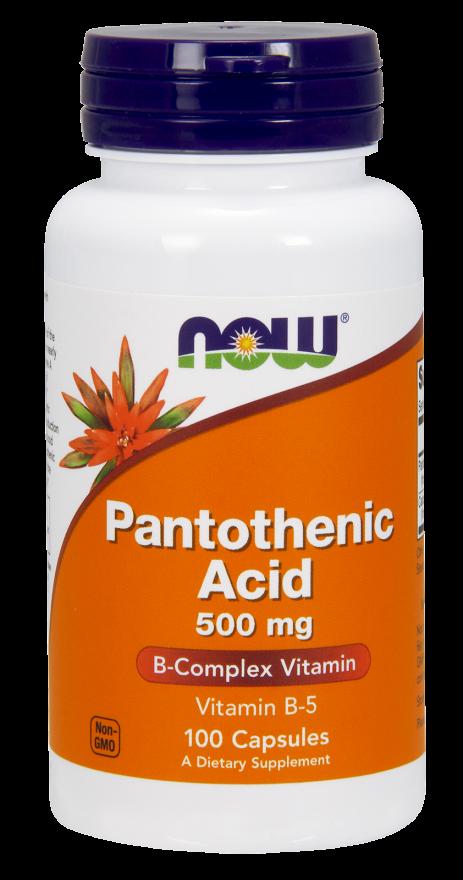 Витамин Б NOW Foods Pantothenic Acid 500mg 100 caps