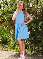 Платье с сердцем голубое