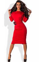 Плаття-футляр міді з трикотажу джерсі червоне