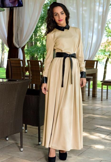 Чорне з бежевим сукні