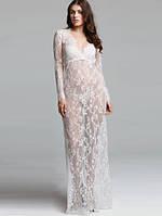 Красивое будуарное платье в пол