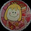 """Вафельная картинка """"Девочка"""", диаметр 14,5 см"""
