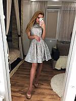 Пышное платье из сетки с мерцающим глиттером