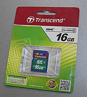 Карта памяти SDHC Transcend 16Gb Class 4
