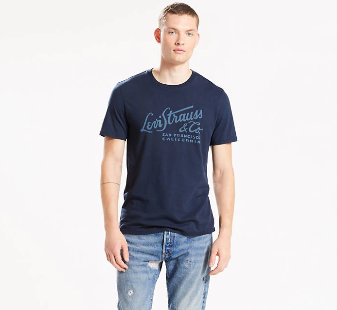 Мужская футболка Levis® Graphic Tee - Dress Blues Wordmark