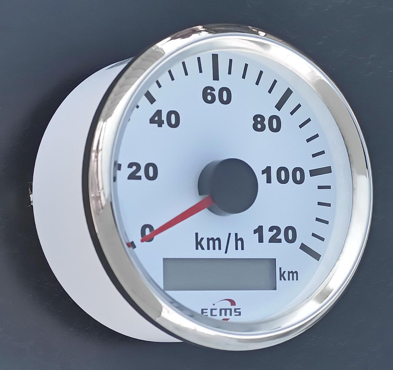 GPS спідометр для човни, катери, яхти ECMS білий