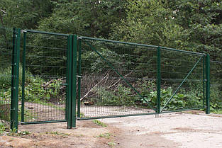 Ворота распашные и калитки из сварной сетки