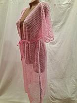 Халат-туника Мармарис  розовый  на наши 52-54 размеры., фото 2