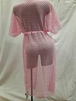 Халат-туника Мармарис  розовый  на наши 52-54 размеры., фото 3