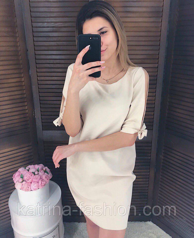 Женское прямое однотонное платье (2 цвета)