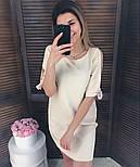 Женское прямое однотонное платье (2 цвета), фото 2
