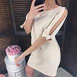 Женское прямое однотонное платье (2 цвета), фото 3