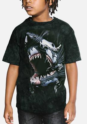3D футболка для мальчика The Mountain р.XL 13-15 лет футболки детские с 3д принтом рисунком (Акулий прорыв), фото 2
