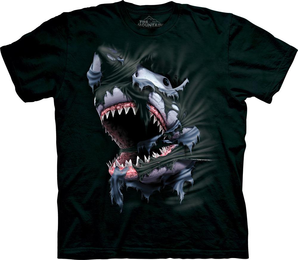 3D футболка для мальчика The Mountain р.XL 13-15 лет футболки детские с 3д принтом рисунком (Акулий прорыв)