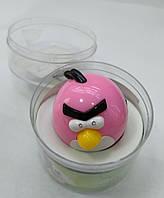 Дитячий MP-3 Плеєр Angry Bird + USB + FM pink