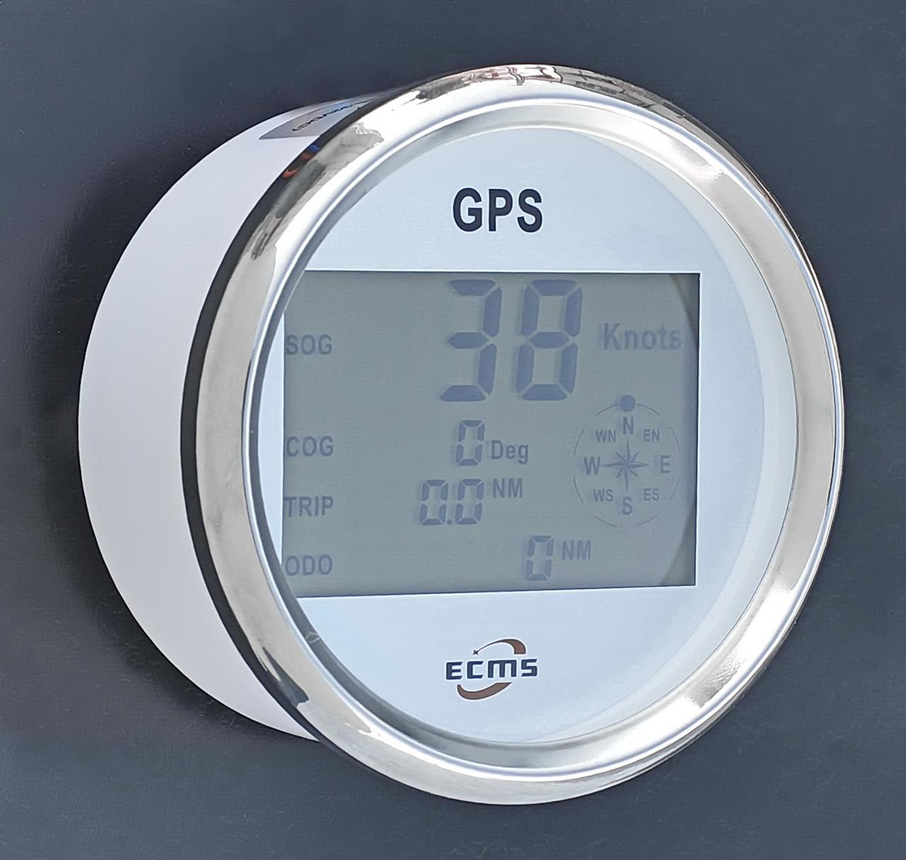 Спидометр GPS для лодки, катера, яхты мультиэкран ECMS белый 900-00031