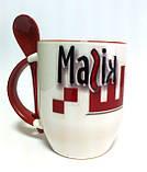 Чашки с ложками, печать, фото 2
