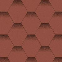 Битумная черепица Aquaizol / Акваизол Мозаика Красный Мак