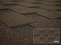 Битумная черепица Kerabit /Керабит Квадро Спелый каштан Parkland Brown (коричнево-черный)
