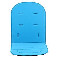 Вкладыш в автокресло, коляску, мягкий коврик, голубой
