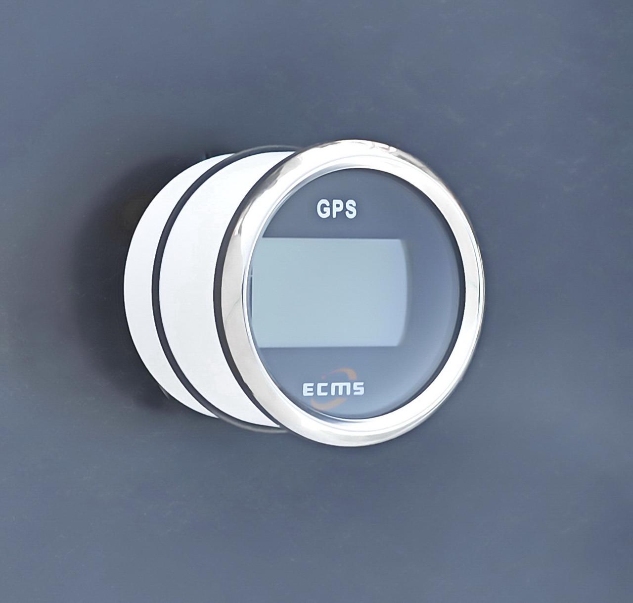 GPS спідометр з компасом для човни, катери, яхти ECMS чорний