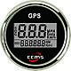 GPS спідометр з компасом для човни, катери, яхти ECMS чорний, фото 2
