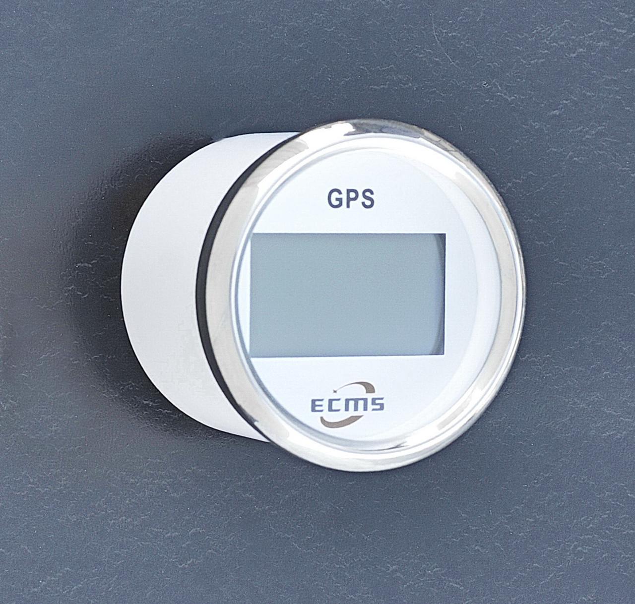 Спидометр GPS с компасом для лодки, катера, яхты ECMS белый