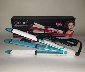 Утюжок выпрямитель плойка для укладки волос гофре 3 в 1 Gemei GM 2921, фото 2