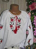 Вишиванка для дівчинки з довгим рукавом Батист 158 Вышиванка 1ecc11fb2b9f7