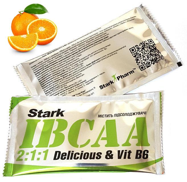 (Пробник) аминокислот Stark Pharm - BCAA Stark IBCAA 2-1-1 (6,25 гр) апельсин