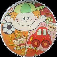 """Вафельная картинка """"Мальчик"""", диаметр 14,5 см"""