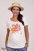Футболка для беременных LILLIT FLAMINGO, молочная*, фото 1