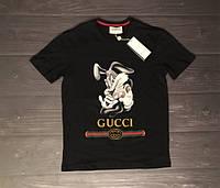 Футболка Gucci  черная и белая   ( реплика А класса )
