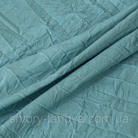 Крэш ткань хлопок для штор (цвета внутри), бежевый бирюза