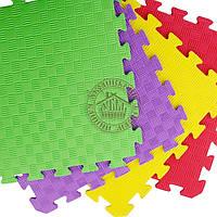 Татами ласточкин хвост (детский коврик-пазл) цветной