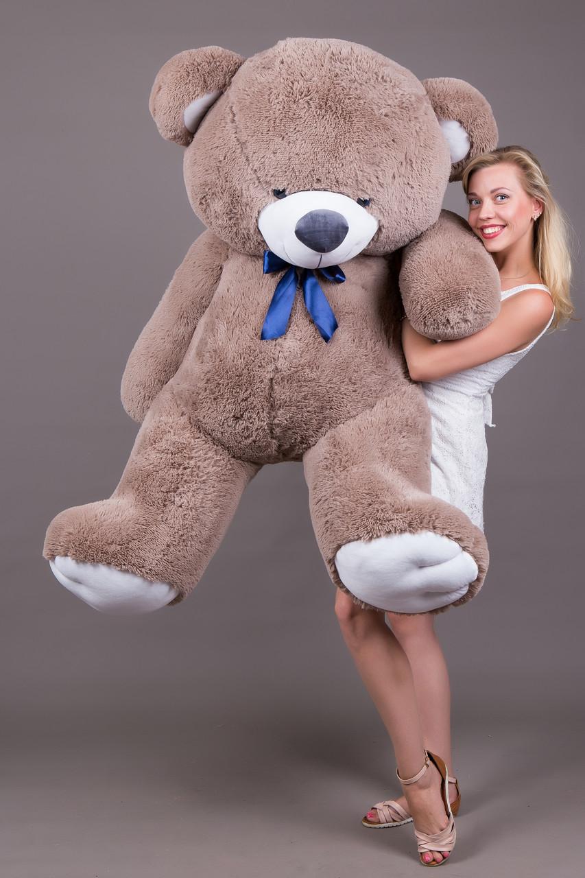 Большой Плюшевый Мягкий Медведь Томас 185 см Капучино купить.