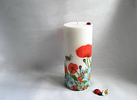 Свеча ручной работы Луговые цветы Для интерьера Подарок подруге, фото 1