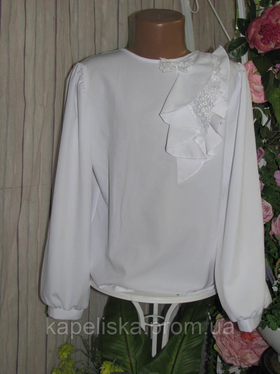 Блуза школьная, нарядная белая Дана, Da-na блузочка для дівчинки