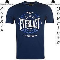 Размер 3XL (наш 56й) - Футболка Everlast мужская темносиняя для тренировок из Англии