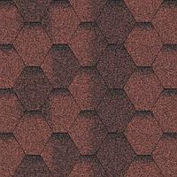Битумная черепица Aquaizol / Акваизол Мозаика Красная ЭКО